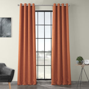 Orange 120 x 50-Inch Polyester Blackout Curtain Single Panel
