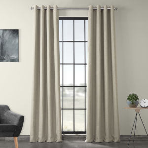 Beige 84 x 50-Inch Polyester Blackout Curtain Single Panel