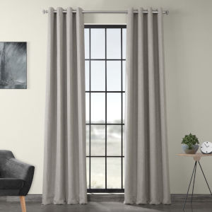 Beige 120 x 50-Inch Polyester Blackout Curtain Single Panel