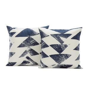 Traid Indigo Printed Cotton Cushion Cover, Set of 2