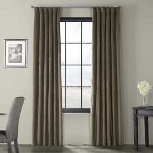 Brown 96 x 50-Inch Polyester Blackout Curtain Single Panel