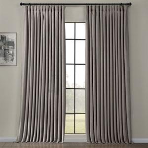 Heritage Plush Velvet Extrawide Destiny Grey 100 W x 84 H Inches Single Panel Curtain
