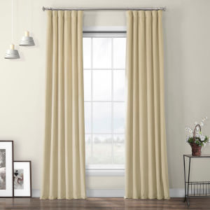 Orange Heritage Plush Velvet Curtain Single Panel