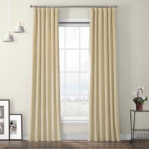 Orange Heritage Plush Velvet Curtain Single Panel