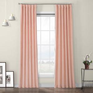 Pink Blossom Heritage Plush Velvet Curtain Single Panel