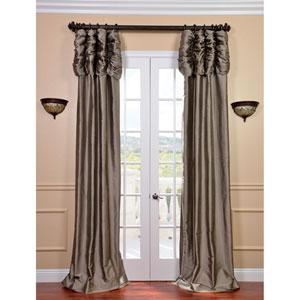Ruched Silver Grey 120 x 50-Inch Thai Silk Curtain Single Panel