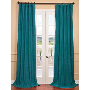 Teal 84 x 50-Inch Hand Weaved Cotton Curtain Single Panel