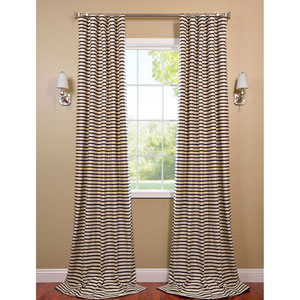 Black and Cream 120 x 50-Inch Hand Weaved Cotton Curtain Single Panel