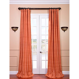 Terracotta 108 x 50-Inch Raw Silk Curtain Single Panel