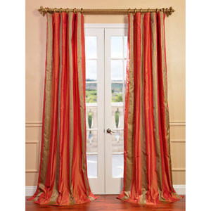 Waterford Sienna 96 x 50-inch Silk Stripe Curtain Single Panel