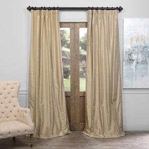 Dusty Gold 108 x 50-Inch Thai Silk Curtain
