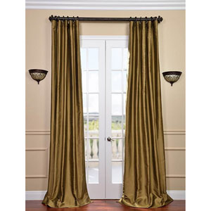 Taupe Gold 108 x 50-Inch Thai Silk Curtain Single Panel