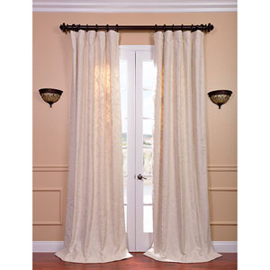 Aurora Multicolor 96 x 50-Inch Embroidered Cotton Crewel Curtain Single Panel