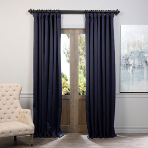 Eclipse Navy 108 x 100-Inch Blackout Curtain Single Panel