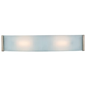 Helium Brushed Steel 24.5-Inch Wide LED Bath Vanity Fixture