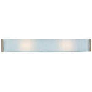 Helium Brushed Steel 32-Inch Wide LED Bath Vanity Fixture
