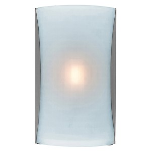 Radon Brushed Steel 8.5-Inch Wide LED Wall Sconce with Checkered Frosted Glass