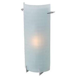 Oxygen Brushed Steel 7.5-Inch Wide LED Bath Vanity Fixture