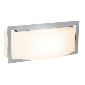 Argon Brushed Steel 12-Inch Wide LED Wall Sconce