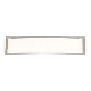 Argon Brushed Steel 22.5-Inch Wide LED Wall Sconce