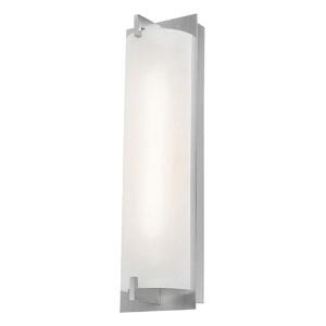Bo Brushed Steel 19-Inch High LED Bath Vanity Fixture