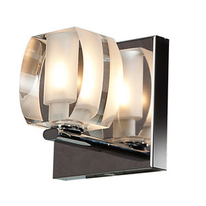 Evia Chrome One-Light LED Vanity