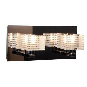 Evia Chrome Two-Light 11-Inch Wide Bath Vanity Fixture