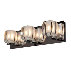 Evia Chrome Three-Light LED Vanity