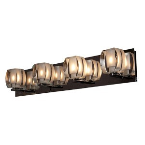 Evia Chrome Four-Light 26-Inch Wide Bath Vanity Fixture