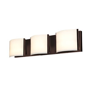 Nitro2 Bronze Three-Light LED Vanity