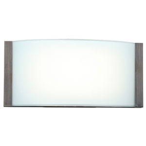 Wave Bronze One-Light 9-Inch LED Vanity with Opal Glass Shade