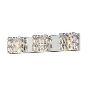 Magari Chrome One-Light LED Bath Bar Vanity