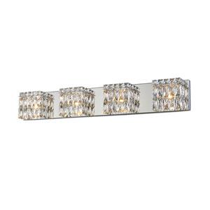 Magari Chrome Four-Light LED Bath Bar Vanity