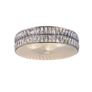 Magari Mirrored Stainless Steel 21-Inch LED Flush Mount
