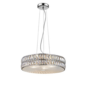 Magari Mirrored Stainless Steel 18-Inch LED Pendant