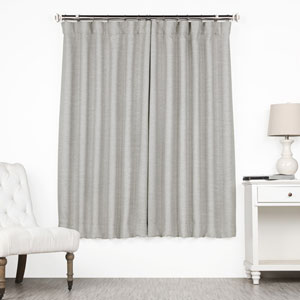 Grey 63 x 50 In. Blackout Curtain Single Panel