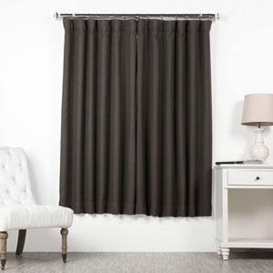 Smoked Mushroom 63 x 50 In. Blackout Curtain Single Panel