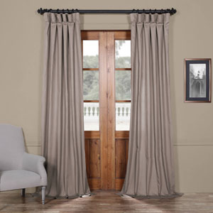 Stone Gray Solid Cotton 84 x 50 In. Curtain Single Panel