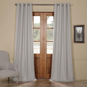 Grey 120 x 50 In. Grommet Blackout Curtain Panel Set