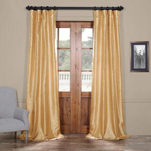 Light Gold 120 x 50 In. Faux Silk Taffeta Curtain Single Panel