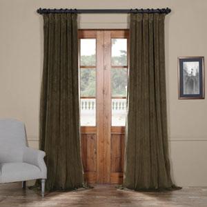 Dark Green 120 x 50 In. Blackout Velvet Curtain Panel