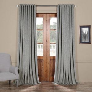 Silver Grey 96 x 100 In. Double Wide Grommet Blackout Velvet Curtain Single Panel
