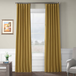 Bellino Blackout Gold 50 x 120 In. Curtain Single Panel