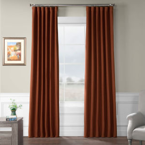 Bellino Blackout Red 50 x 108 In. Curtain Single Panel