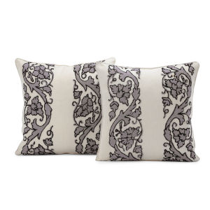 Florence Multicolor Cotton and Wool Cushion Covers, Set of Two
