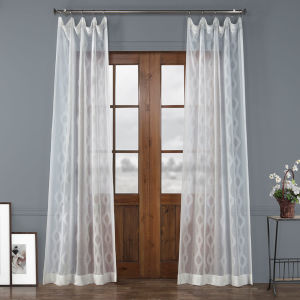 Vega White Polyester 96 In L x 50 In W Single Panel Curtain
