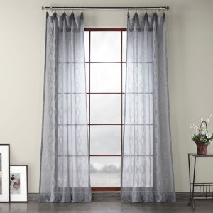 Vega Gray Polyester 84 In L x 50 In W Single Panel Curtain
