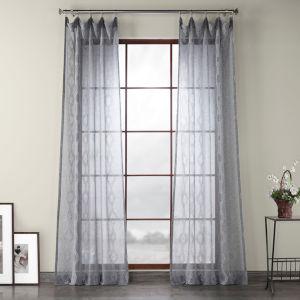Vega Gray Polyester 96 In L x 50 In W Single Panel Curtain