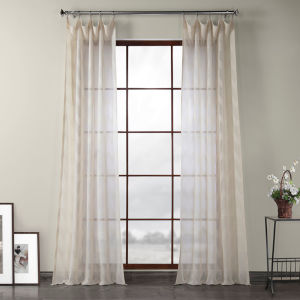 Sirius Beige Polyester 108 In L x 50 In W Single Panel Curtain