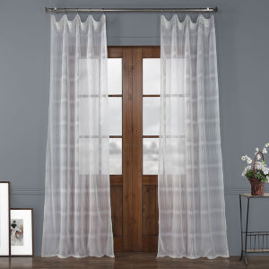 Polaris White Polyester 108 In L x 50 In W Single Panel Curtain